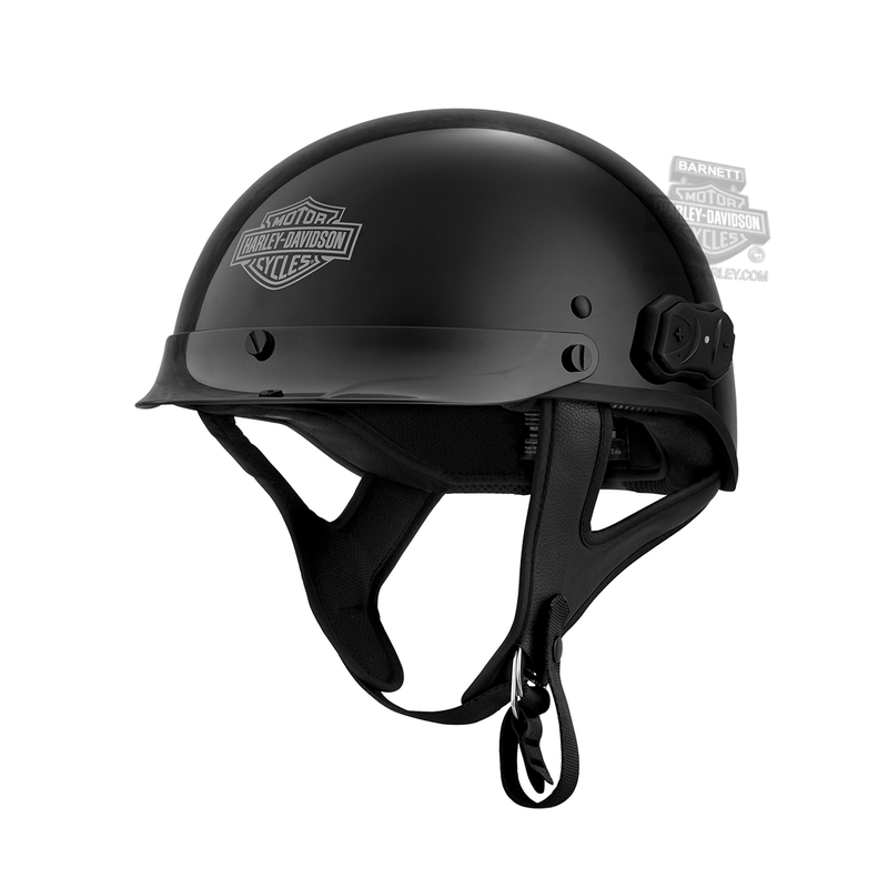 Harley-Davidson® Mens BOOM!™ Audio Bluetooth 4.1 N01 Gloss Black Half Helmet