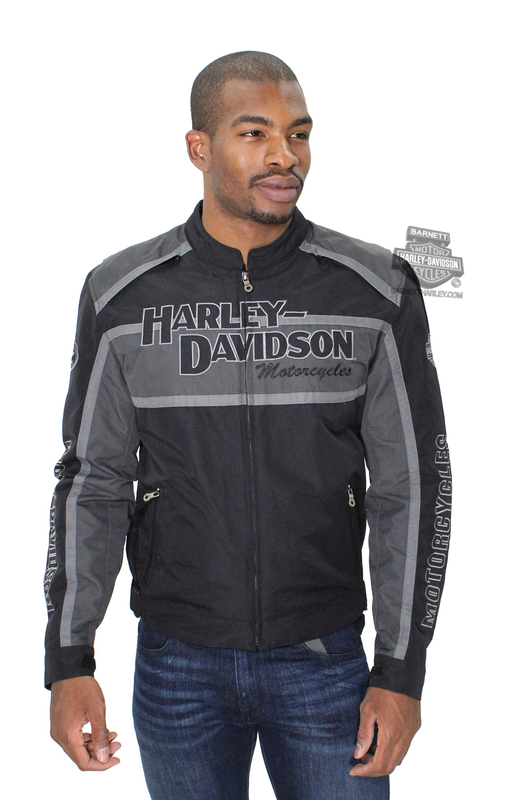 ** SMALL & BIG SIZES ONLY ** Harley-Davidson® Mens Classic Cruiser Grey Functional Jacket