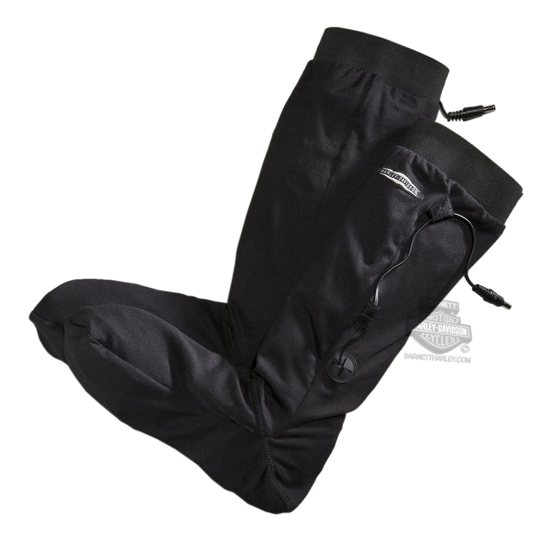 Harley-Davidson® Mens Heated One-Touch Programmable 12V Black Sock Liner