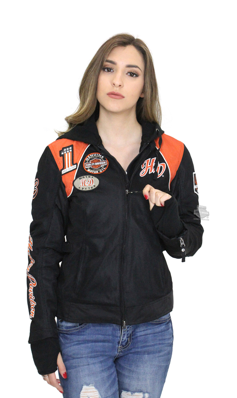 Harley-Davidson® Womens Cora 3-In-1 Mesh Black Casual Jacket