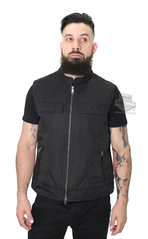 Harley-Davidson® Mens Ramsey Embroidered Club Black Vest
