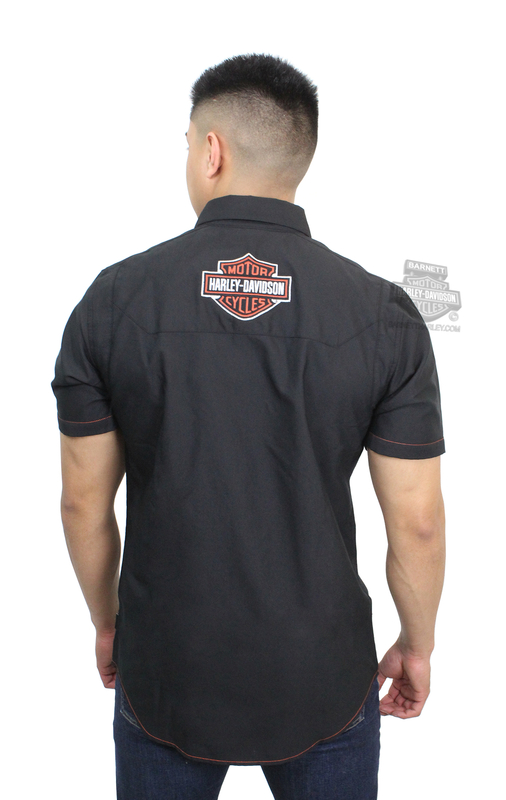 b99dc873bf Harley-Davidson® Mens  1 Logo Performance Coolcore® Technology Black Short  Sleeve Woven