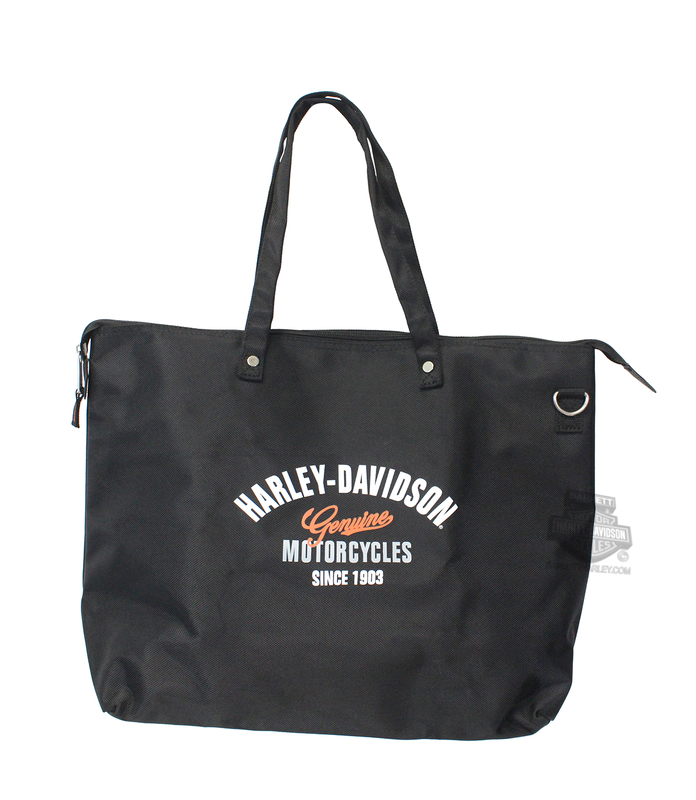 Harley-Davidson® Mens Genuine H-D Foldable Travel Black Tote Bag