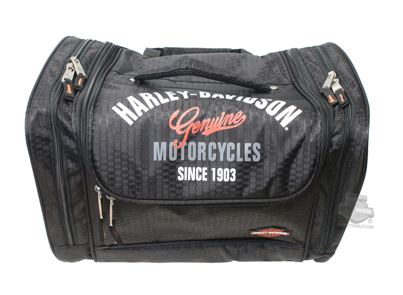 Harley-Davidson® Mens Extreme Hop Along IV Genuine Black Tote Bag