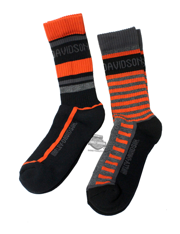 Harley-Davidson® Mens Performance Mix and Match 2pk Grey Cotton Blend Socks