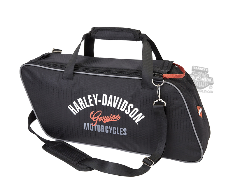Harley-Davidson® Mens Tour Pack Genuine H-D Black Polyester Tote Bag