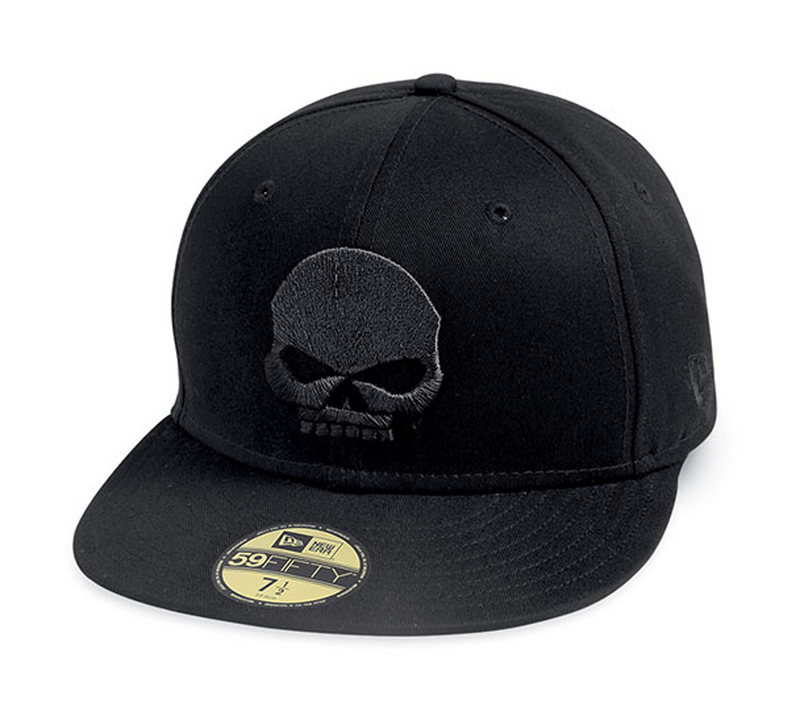 Harley-Davidson® Mens Willie G Skull 59FIFTY® by New Era 5950 Black Cotton Fitted Baseball Cap