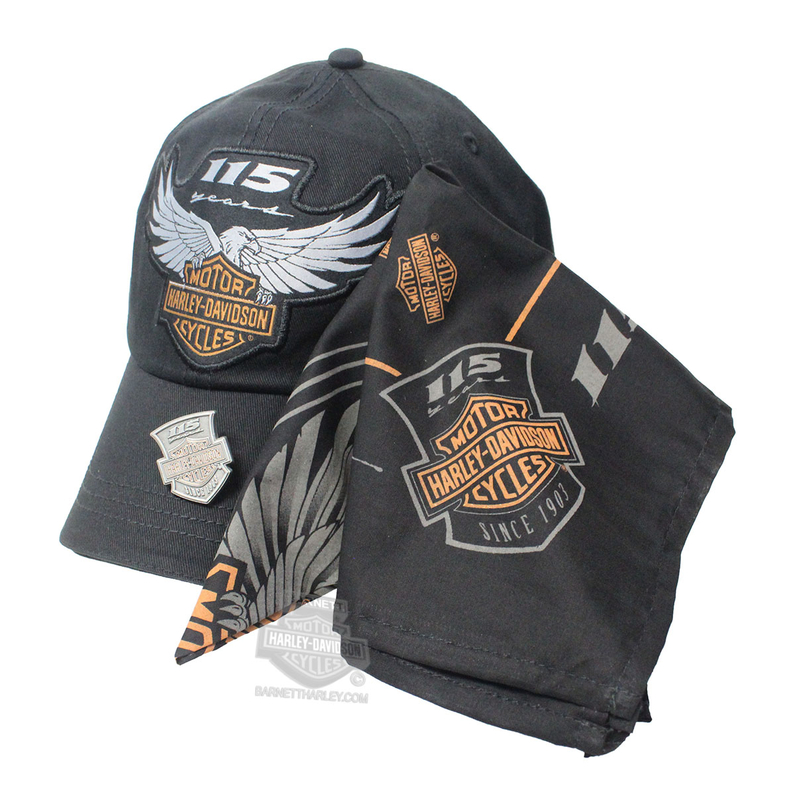 Harley-Davidson® Mens 115th Anniversary 3 Piece Ride Pack