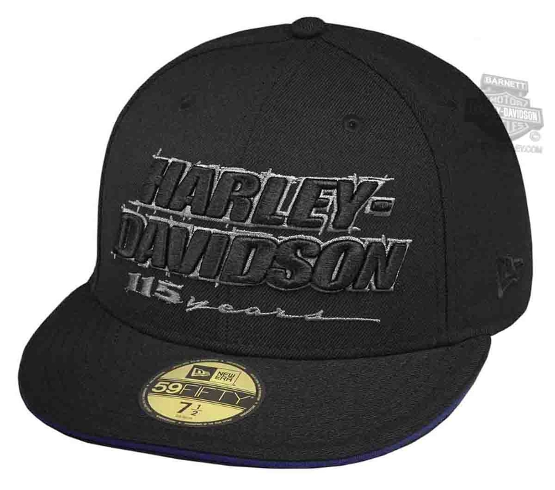 Harley-Davidson® Mens 115th Anniversary 59FIFTY® by New Era 5950 Black Wool Fitted Baseball Cap