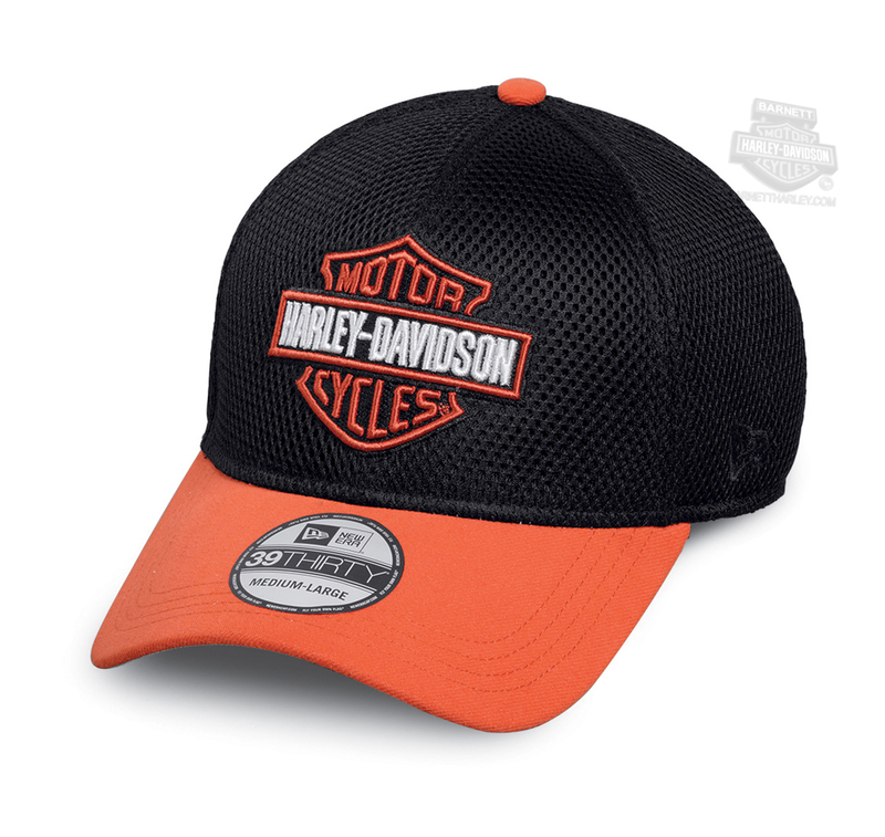 d09148b2f2b Harley-Davidson® Mens Colorblocked B S Logo 39THIRTY® by New Era 3930 Mesh  Black