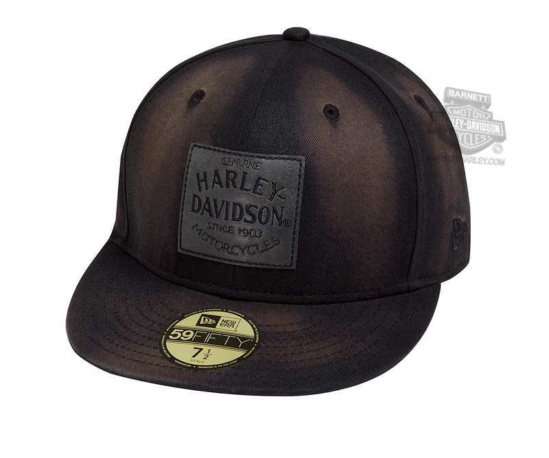 49cb6e8f180 Harley-Davidson® Mens Distressed Look 59FIFTY® by New Era 5950 Charcoal  Cotton Fitted