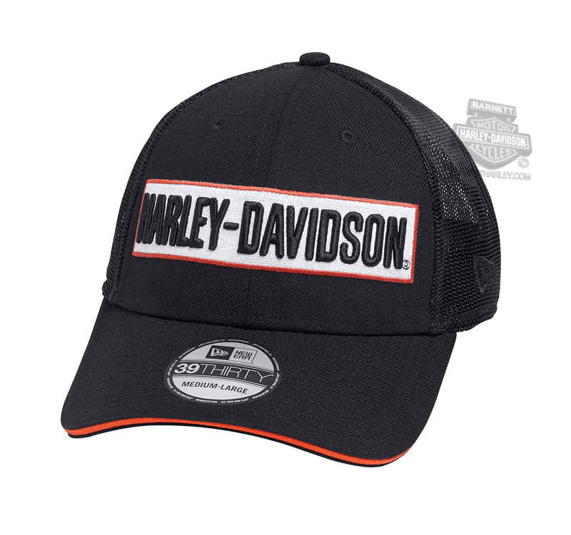 factory authentic 6102b d8acc Harley-Davidson® Mens H-D Name Dimensional 39THIRTY® by New Era 3930 Black  Poly