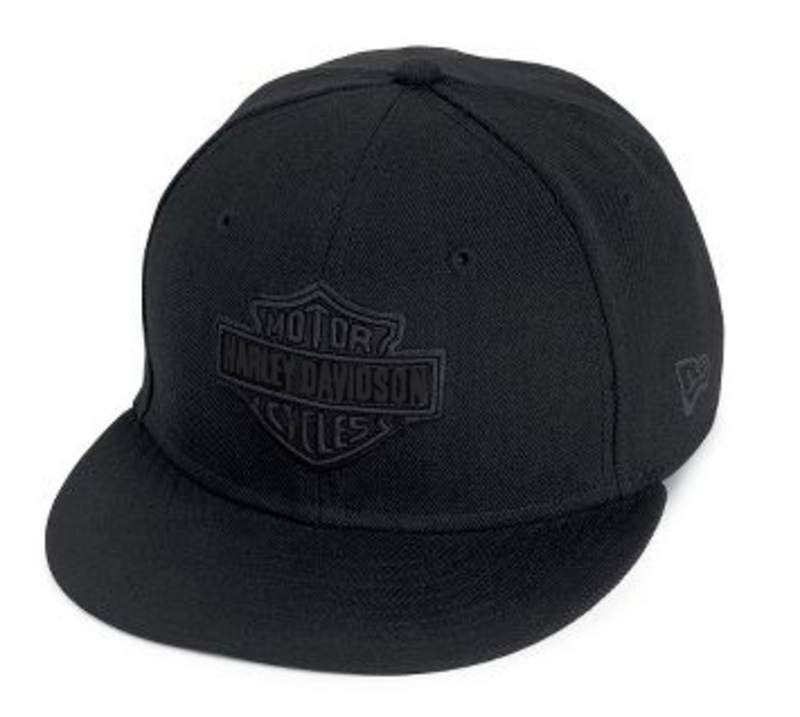 Harley-Davidson® Mens Tonal Bar & Shield Logo New Era® 59Fifty Black Baseball Cap 5950