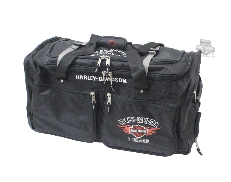 Harley-Davidson® Mens B&S Flames Wheeling 15 Pocket 29