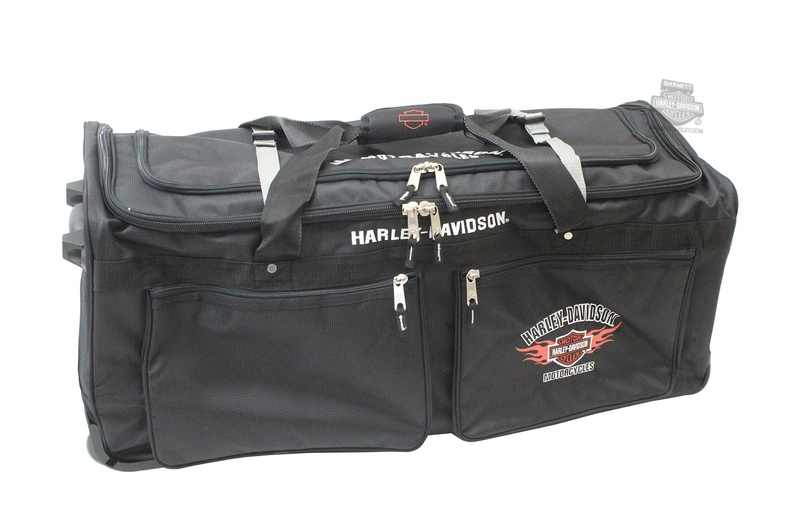 Harley-Davidson® Mens B&S Flames Wheeling 15 Pocket 34