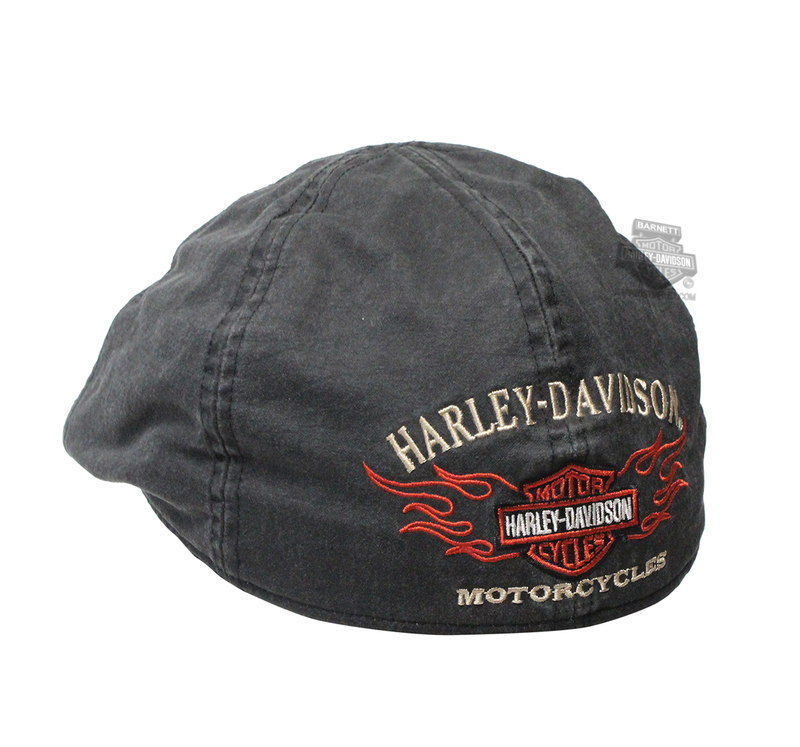 Harley-Davidson® Mens Flame Graphic Grey Ivy Cap