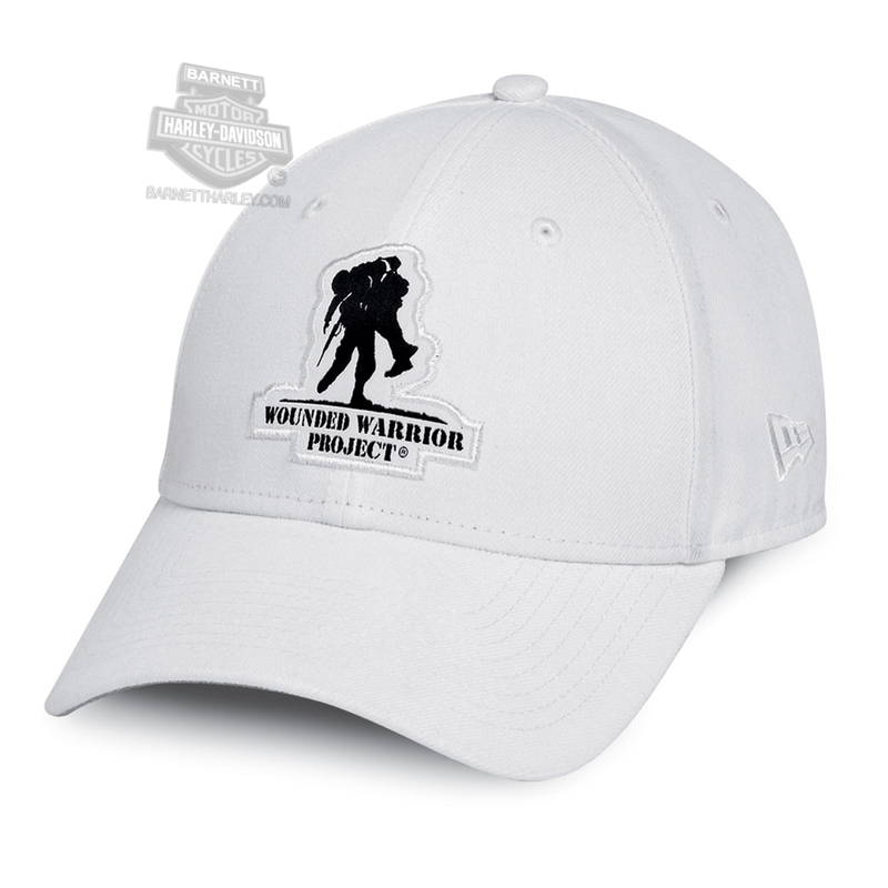 Harley-Davidson® Womens Wounded Warrior Project® B&S Logo 9FORTY® by New Era 940 White Polyester Baseball Cap