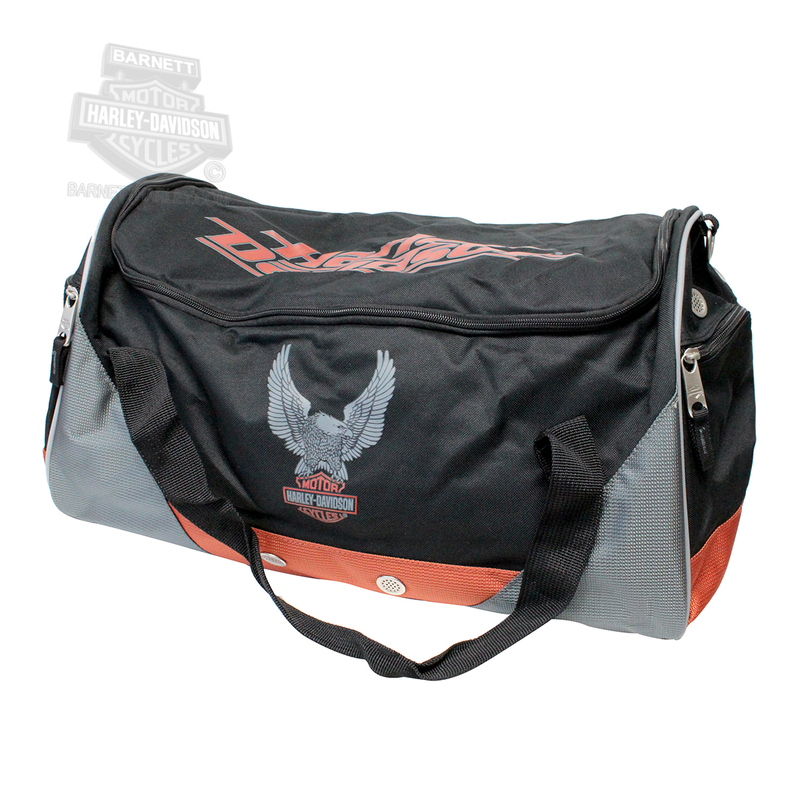Harley-Davidson® Mens Eagle B&S Sport & Travel Black Duffel Bag