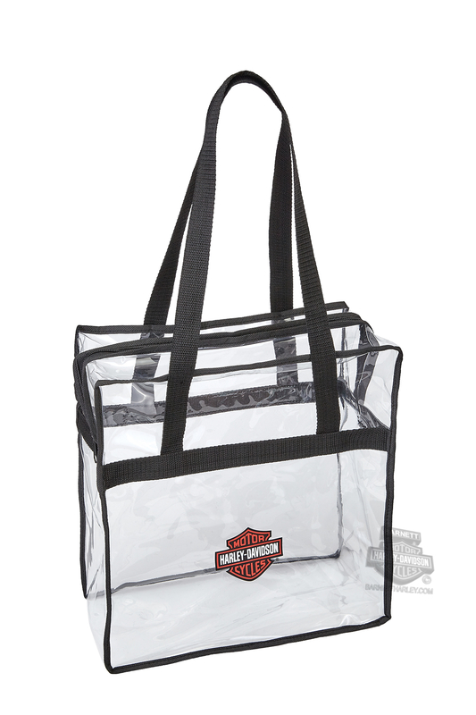Harley-Davidson® Security Shopper B&S Logo Clear Tote Bag