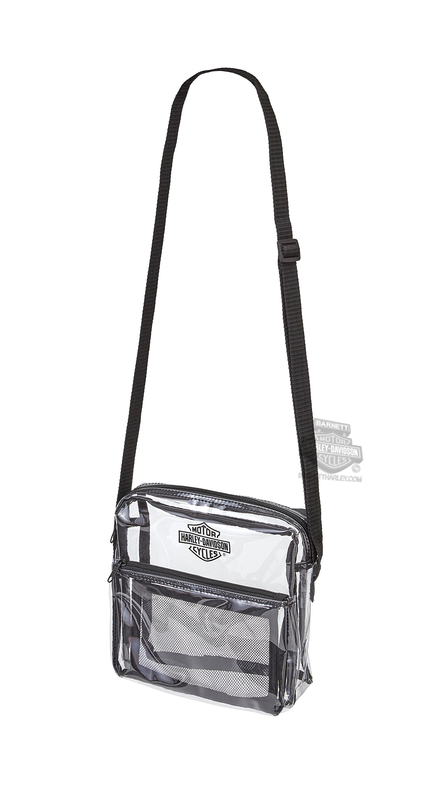 Harley-Davidson® Security B&S Logo Clear Messenger Bag
