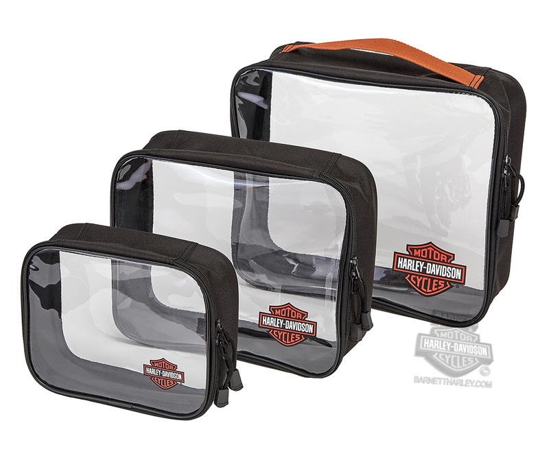 Harley-Davidson® B&S Logo 3PC Set Clear Packing Cubes