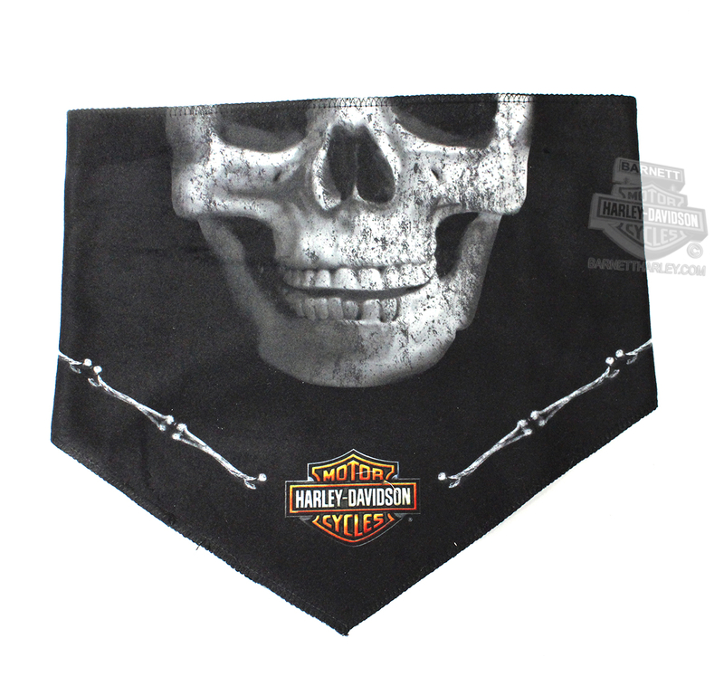 Harley-Davidson® Bandana Black Deadly Jaw 3 In 1