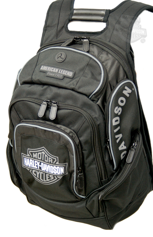 Harley-Davidson® Backpack Black/Grey B&S Delux