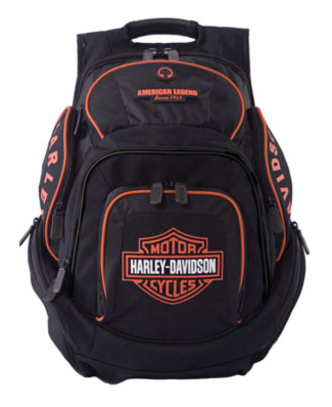 Harley-Davidson® Backpack Black/Orange B&S Delux