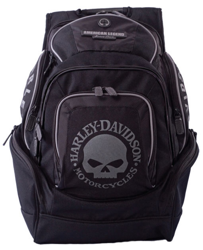 Harley-Davidson® Backpack Black Willie G Skull Delux