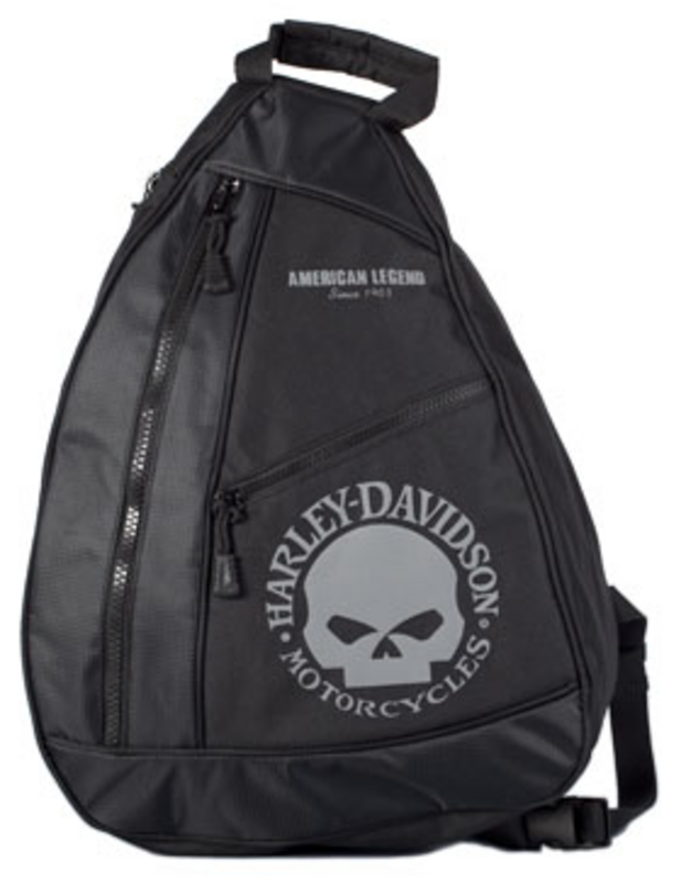 Harley-Davidson® Backpack Black/Grey Sling Willie G Skull