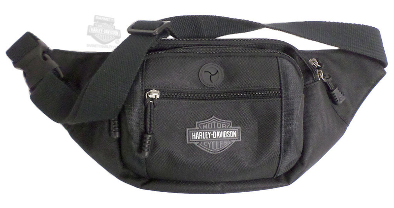 Harley-Davidson® Mens B&S Logo Crossbody/Waistpack Black Poly Blend Bag