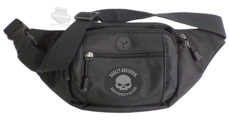 Harley-Davidson® Mens Willie G Skull Crossbody/Waistpack Black Poly Blend Bag