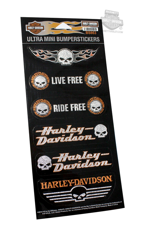 Harley-Davidson® Willie G Skull Assortment Ultra Mini Bumpersticker