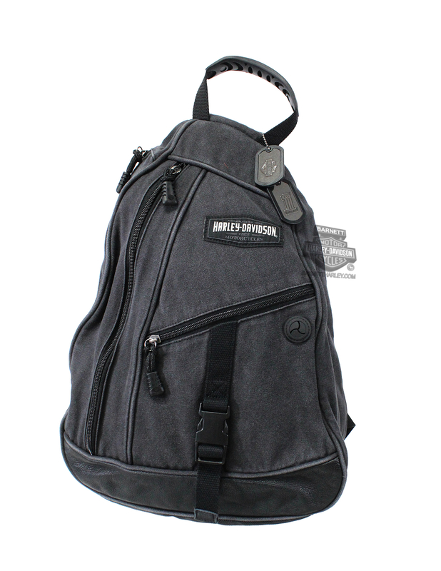 Harley-Davidson® Mens C4 H-D Name Sling Grey Cotton Bag