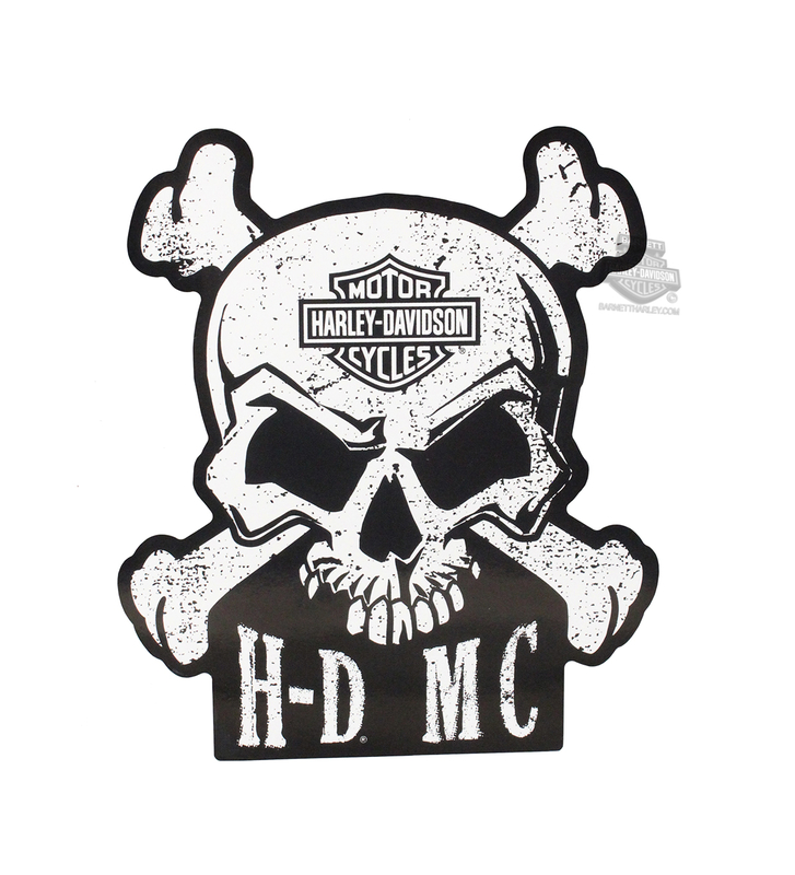 Harley-Davidson® Skull & Crossbones with B&S Decal