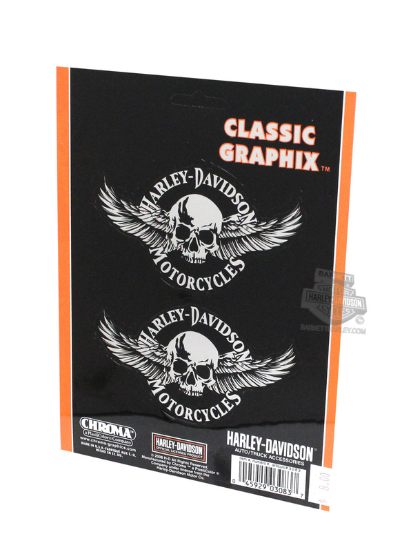 Harley-Davidson® Skull with Wings Graphix™ Decals