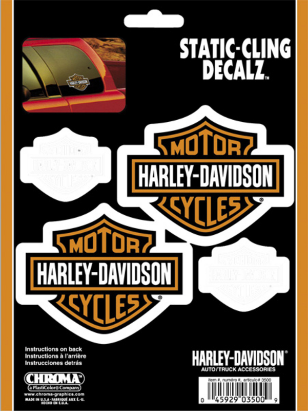 Harley-Davidson® Static Cling™ B&S Decals