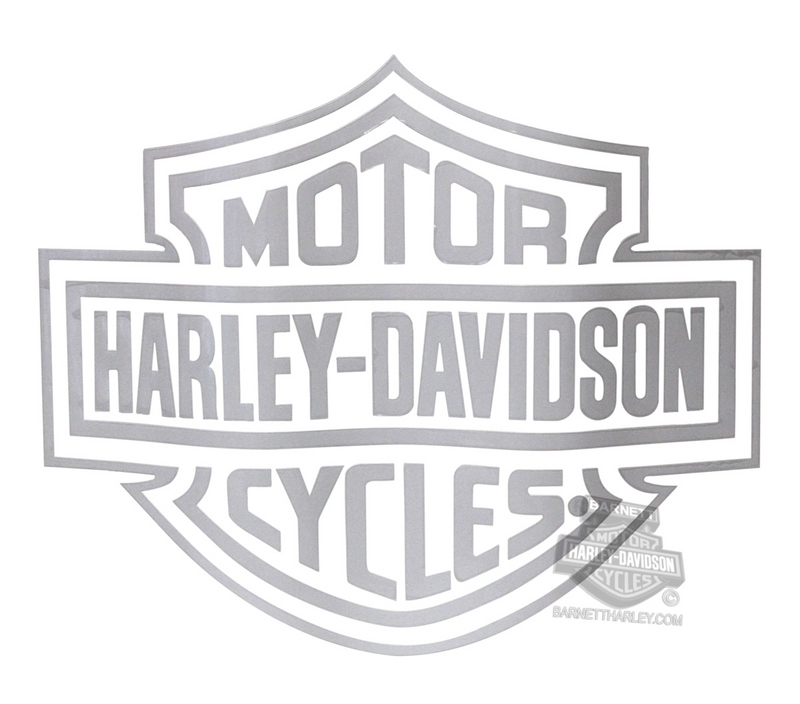 Harley-Davidson® White B&S Logo Cutz™ Rear Window Graphix™