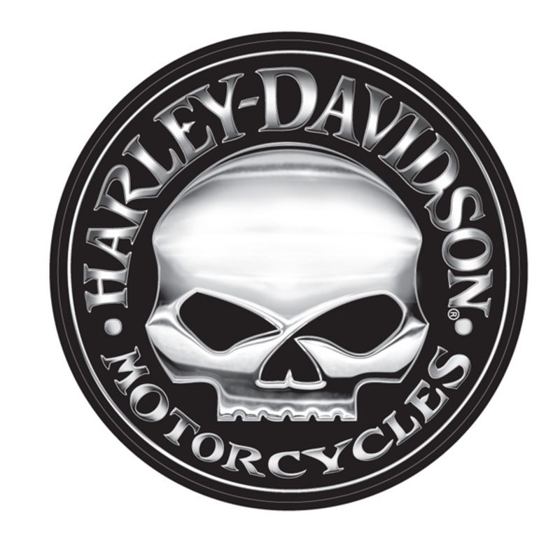Harley-Davidson® Willie G® Skull Extra Large Vinyl Trailer Decal