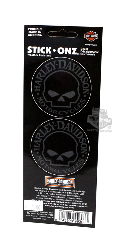 Harley-Davidson® Willie G Stick-Onz™ Decals