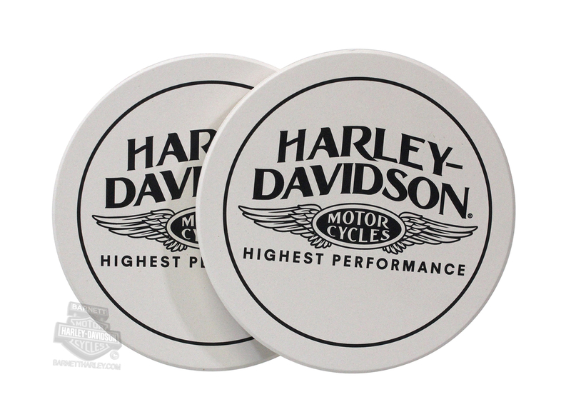Harley-Davidson® Highest Performance Wings Sandstone Coasters