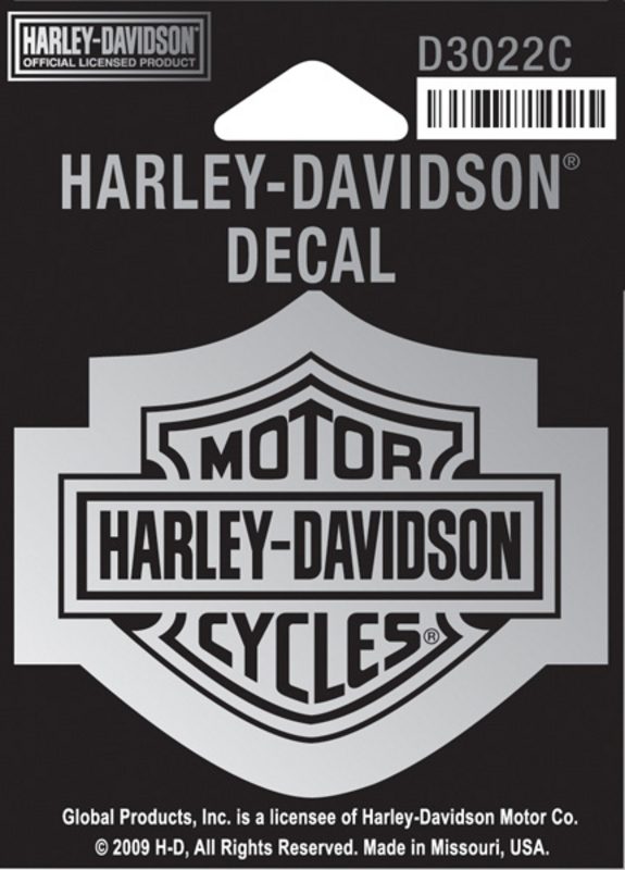 Harley-Davidson® Chrome B&S Small Decal