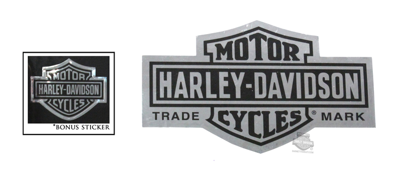 Harley-Davidson® Chrome Long B&S X-Small Decal