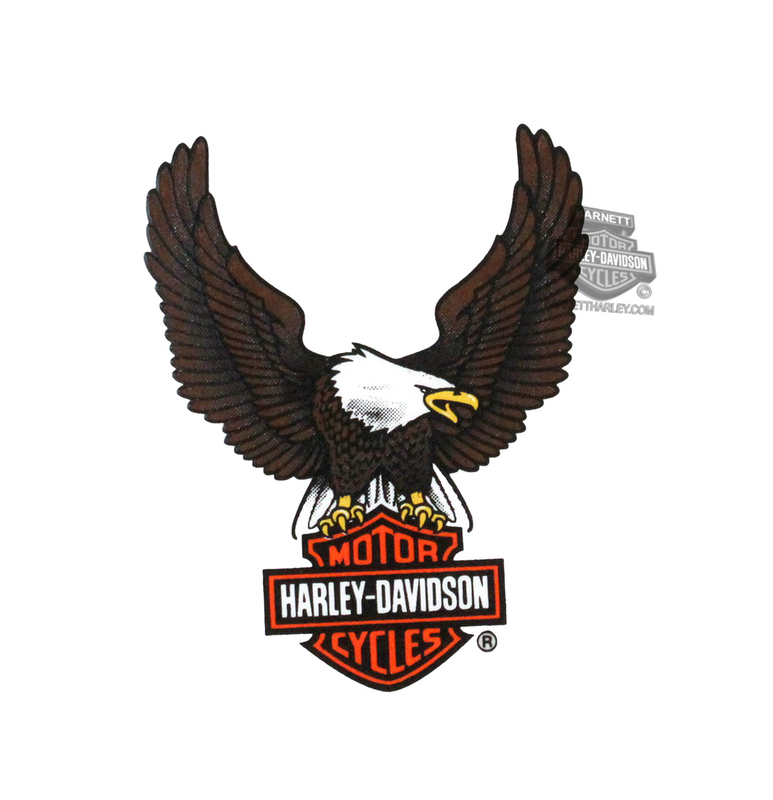 Harley-Davidson® Brown Upwing Eagle X-Small Decal