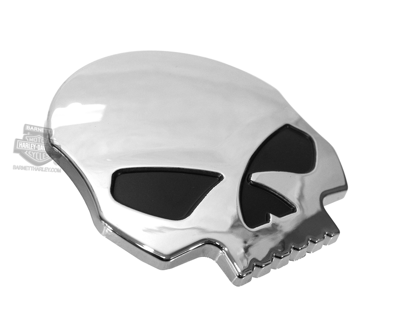 Harley-Davidson® Willie G Skull Chrome Finish Small 3D Decal