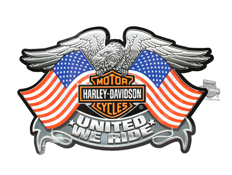 Harley-Davidson® United We Ride Eagle B&S Medium Ultra Decal