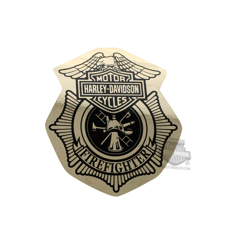 Harley-Davidson® Firefighter Original Gold Paper Small Decal