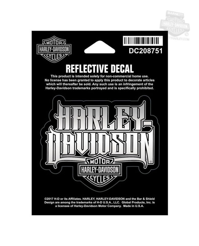 Harley-Davidson® Spiked Text with B&S Reflective X-Small Decal