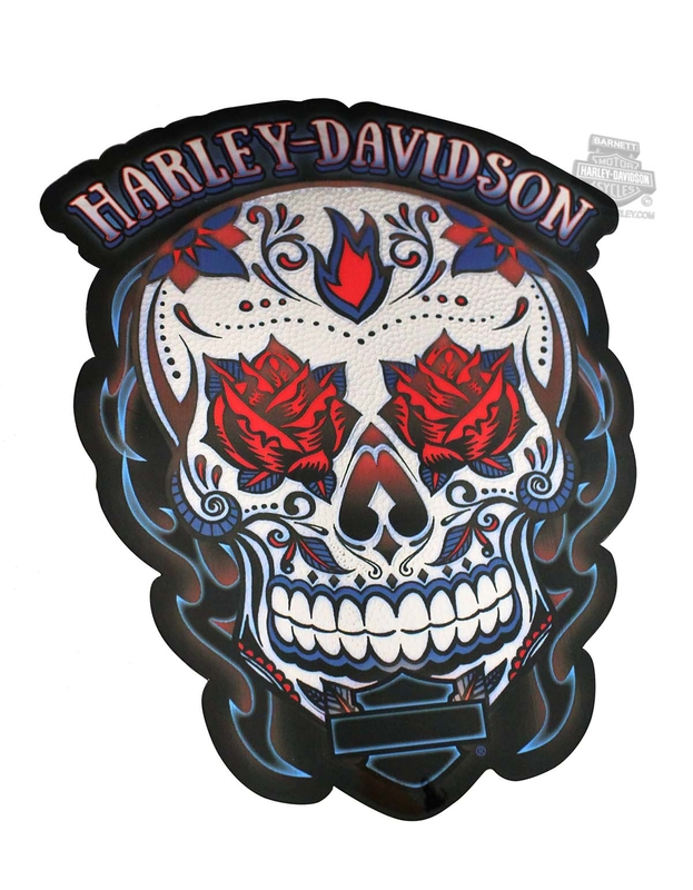 Harley-Davidson® Womens Muertos Skull Medium Decal