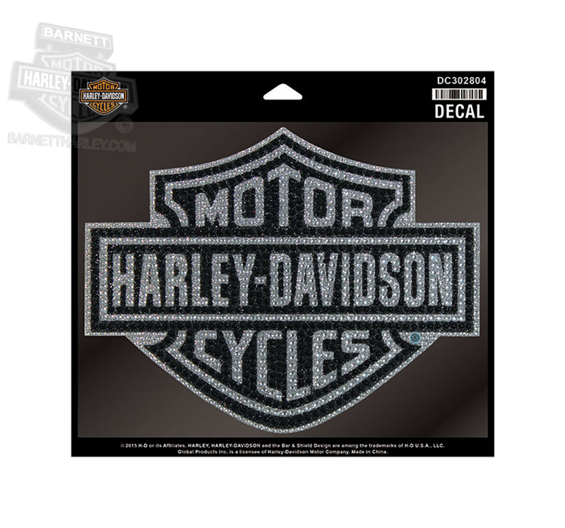 Harley-Davidson® Studded B&S with Glitter Print Large Decal